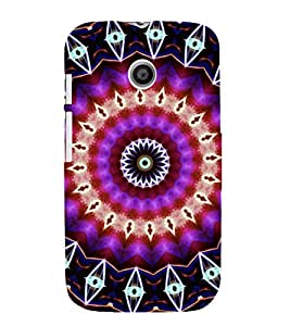 iFasho Animated Pattern design colorful flower in royal style Back Case Cover for MOTO E
