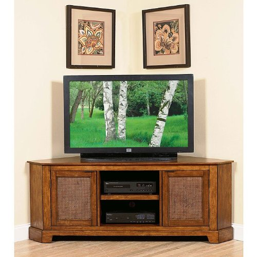 Cheap Home Styles Furniture Jamaican Bay Corner TV Stand in Mahogany Finish (VF_HY-5535-11)