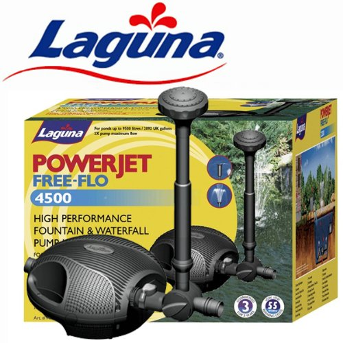 Hagen Laguna Power Jet Free-Flo 4500 Fountain  &  Waterfall Pond Pump