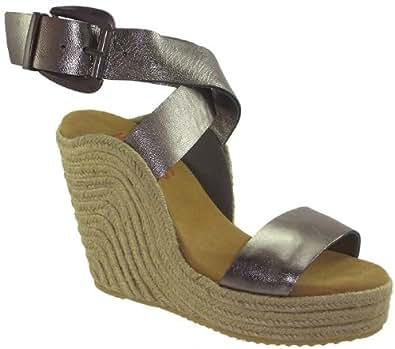 Kors Michael Kors Beach Women's High Wedge Ankle Wrap Sexy Espadrille Sandals (8)