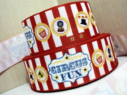 """5 Yards 1.5"""" Circus Fun Carnival Grosgrain Ribbon front-1006746"""