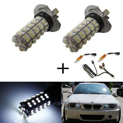 Ijdmtoy Error Free 68-Smd H7 Led Daytime Running Light Kit For Bmw E46 3 Series 325I 330I M3, Etc