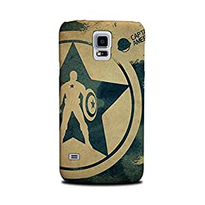 Samsung Galaxy S5 Designer Printed Covers (Samsung Galaxy S5 Back Cover) - Superhero Captain America