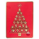 英国 マークス&スペンサー クリスマスツリー缶入り ビスケット 500g | Selection of Plain, Cream and Chocolate Biscuits Made in UK