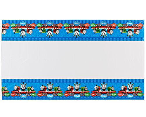 "American Greetings Thomas & Friends Plastic Table Cover, 54 x 96"" - 1"