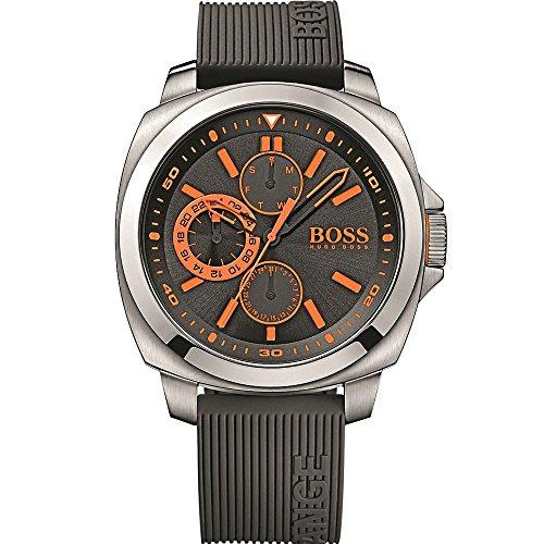 Hugo Boss Orange 1513101 46mm Stainless Steel Case Black Silicone Mineral Men's Watch
