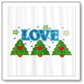 Shower Curtain Love Christmas Tree
