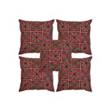 Rajrang Multi Color Cotton Geometrical Embroidered Cushion Cover Set Of 5 Pcs #Ccs06341