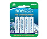 Sanyo eneloop 2000mAh Typical, 1900mAh Minimum, 1500 cycle, 8 Pack AA, Ni-MH Pre-Charged Rechargeable Batteries