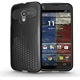 TUDIA Ultra Slim Melody Series TPU Protective Case for Motorola Moto X SmartPhone (Black)