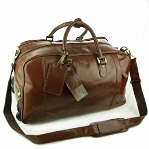 Ashwood Wheeled Holdall - Albert - Chestnut Tan Leather