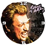 Horloge bois Johnny Hallyday black