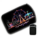 Fun at The Fair Ferris Wheel Merry Go Round For Amazon Kindle Fire & Kindle 3G Keyboard Soft Protection Neoprene Case Cover Sleeve Bag With Pocket which is Ideal for Headphones, Data Cable etc