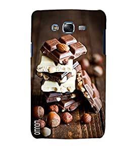 Omnam Choclates Lying On Each Other Beautiful Created Back Cover Case For Samsung Galaxy J5