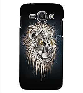 ColourCraft Lion Look Design Back Case Cover for SAMSUNG GALAXY ACE 3 3G S7270