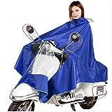 Amazon.co.jp(ディフレコ) Difreco 《 雨の日 でも これで 快適 》 全身 すっぽり で 濡れない バイク 原付 自転車 用 ポンチョ レインコート (ブルー)