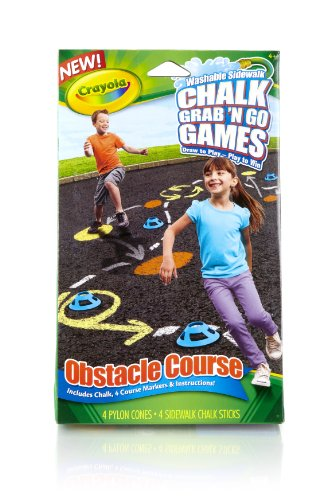 Crayola Obstacle Course Chalk Grab and Go Games