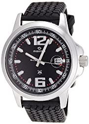 Maxima Attivo Analog Black Dial Mens Watch - 25860PMGI