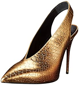 Giuseppe Zanotti Women's Pointed Toe Slingback Slide Pump,Tilly oro PRINT come,9 M US