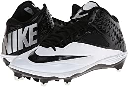 Men s Nike Lunar Code Pro 3 4 Detachable Football Cleat Black White