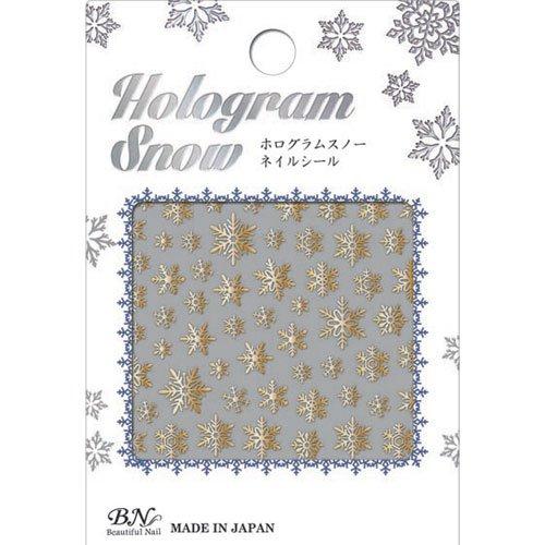 ビーエヌ ホログラムスノーネイルシール ホロ箔ゴールド HOSー3