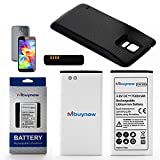 Mbuynow® New 7500mAh Extended High Capacity Replacement Battery for Samsung Galaxy S5 SM-G900 / GT-i9600 + Protective Combo Back Cover (Khaki)