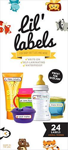 Bottle Labels, Write-On, Self-Laminating, Daycare Waterproof Labels, plus 2 Bonus Gifts (Freezer Lable compare prices)