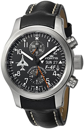 Fortis-Mens-6351091-L01-F-4-Phantoms-Phorever-Analog-Display-Automatic-Self-Wind-Black-Watch
