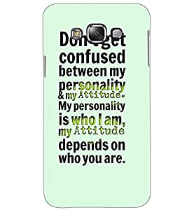 SAMSUNG GALAXY GRAND MAX TEXT Back Cover by PRINTSWAG