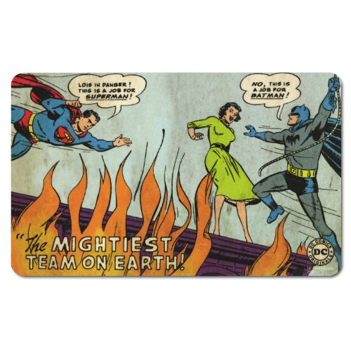 DC Comics - Retro Comic tagliere per la colazione - Batman & Superman - Più potente Team on earth!