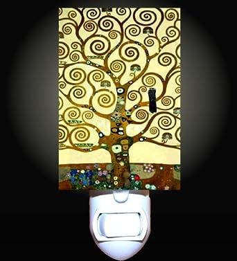 tree of life by klimt decorative night light     amazon