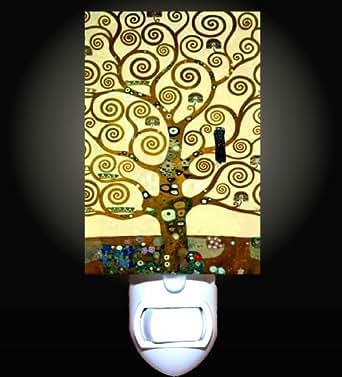Tree Of Life By Klimt Decorative Night Light