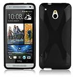 Cadorabo ! X-TPU Bumper Silicon cover for HTC ONE Mini M4 in black