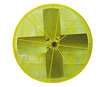 "TPI Corporation HDH30 Heavy Duty Industrial Circulator Head, Yellow, Single Phase, 30"" Diameter, 120 Volt"