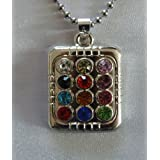 12 Tribes of Israel Ephod Breastplate Pendant Necklace - Large