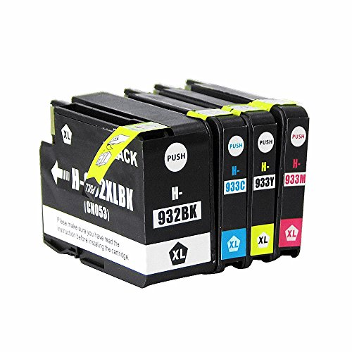 4xH-932XL 933XL Druckerpatronen kompatibel für HP932XL BK HP933MCY mit Chip geeignet für Officejet 6100 6700 Officejet 6600 7110 7610
