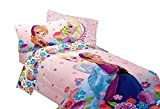 Disney Frozen Full and Twin Sheets and Comforter Set, Floral Breeze (Full)