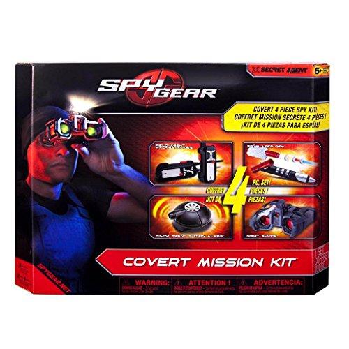 Spy Gear Covert Mission Kit Ultimate Secret Agent Spy Tool Set Including Field Agent Walkie Talkies, Spy Lazer Pen, Micro Agent Motion Alarm, And Night Scope