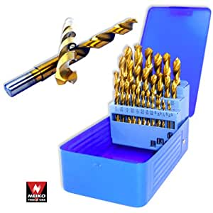 Professional Grade 29 Piece Titanium Drill Bit Set