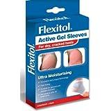 Flexitol Active Gel Heel Sleeves (1 pair) (Washable & Reusable, 40 Treatments)