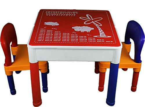 Kidkraft Lego Table   Kids Construction Table Duplo U0026 Lego Compatible W/ 2  Chairs (view All Photos)