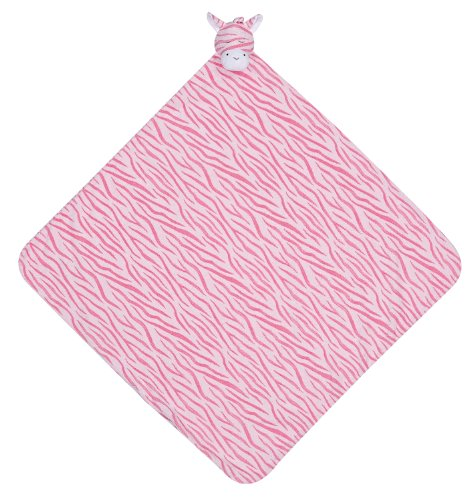 Pink Zebra Baby Blanket front-171760