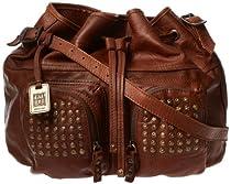 FRYE Brooke Drawstring Novelty Bag,Brown,One Size
