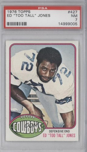 Ed Too Tall Jones RC (Rookie Card) PSA GRADED 7 Ed Jones, Dallas Cowboys (Football Card) 1976 Topps #427 at Amazon.com