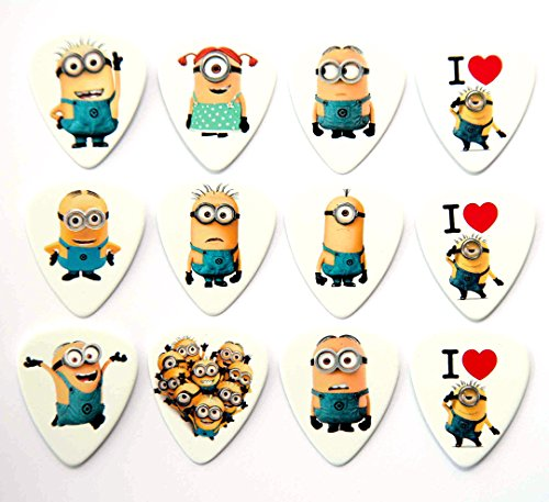 Minions Chitarra Picks Set di 12 Plettri Despicable Me