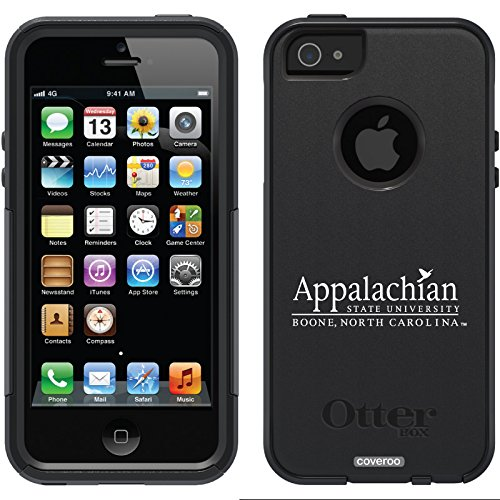 Appalachian State Boone Design On A Black Otterbox® Commuter Series® Case For Iphone 5S / 5
