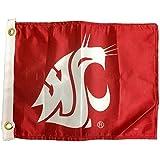 "NCAA Washington State Cougars Unisex Gcufl-Wscougars12"" X 15"" Washington St Cougars Golf Cart Flag, Red, 12"" X 15"""