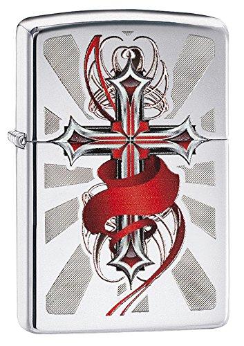 zippo-red-cross-high-polish-chrome-pocket-lighter