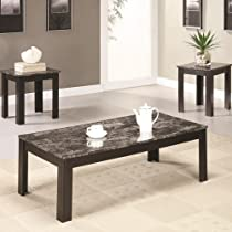 Big Sale 3-Pc Rectangular Occasional Table Set in Black Finish