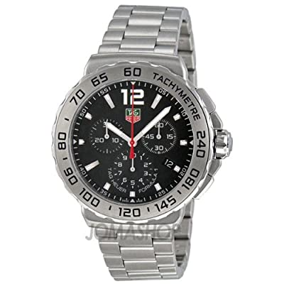 Tag Heuer Formula 1 Chronograph Black Dial Stainless Steel Mens Watch CAU1112.BA0858